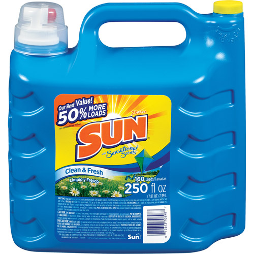 Sun Ultra Concentrated Clean & Fresh Liquid Laundry Detergent, 250 Fl. oz Jug