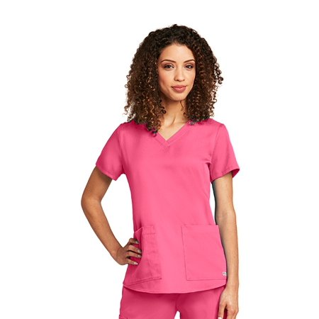 Grey\'s Anatomy Women\'s 2 Pocket V-Neck Shirred Back Scrub Top ...