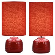 Aspire Home Accents Tessa Red Table Lamp (Set of 2)