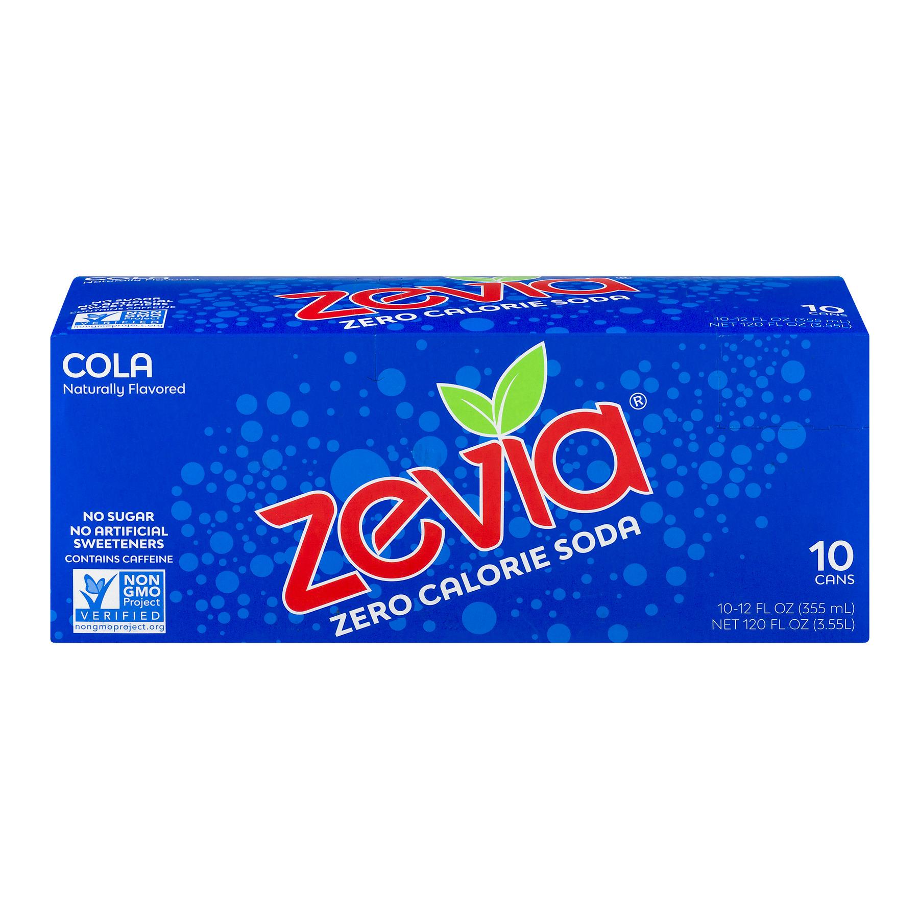 Zevia Zero Calorie Soda Cola - 10 CT