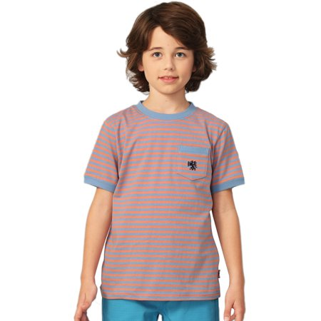 Leo&Lily Big Boys Short Sleeve Color Stripe Crew-neck T-Shirt