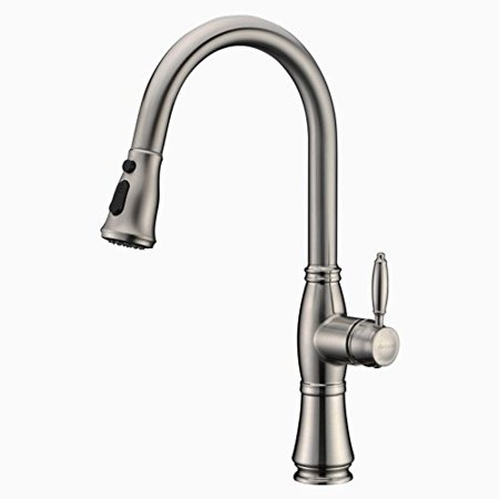 Kitchen Sink Faucet Gicasa Brushed Nickel 1 Or 3 Hole Single Handle