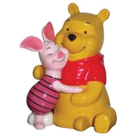 3.75 Inch Winnie the Pooh Bear Hugging Piglet Salt and Pepper