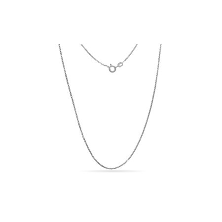 Sterling Silver Open Box Link Chain Necklace 22 Inch