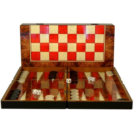 - Worldwise Imports Folding Backgammon and Checkers Board Set - 19 x 19 inches