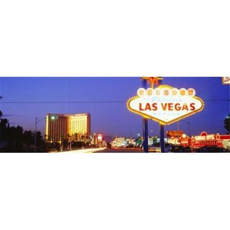Images panoramiques PPI71364L Bienvenue Connexion copie d'affiche de Las Vegas NV par images panoramiques - 36 x 12 - image 1 de 1