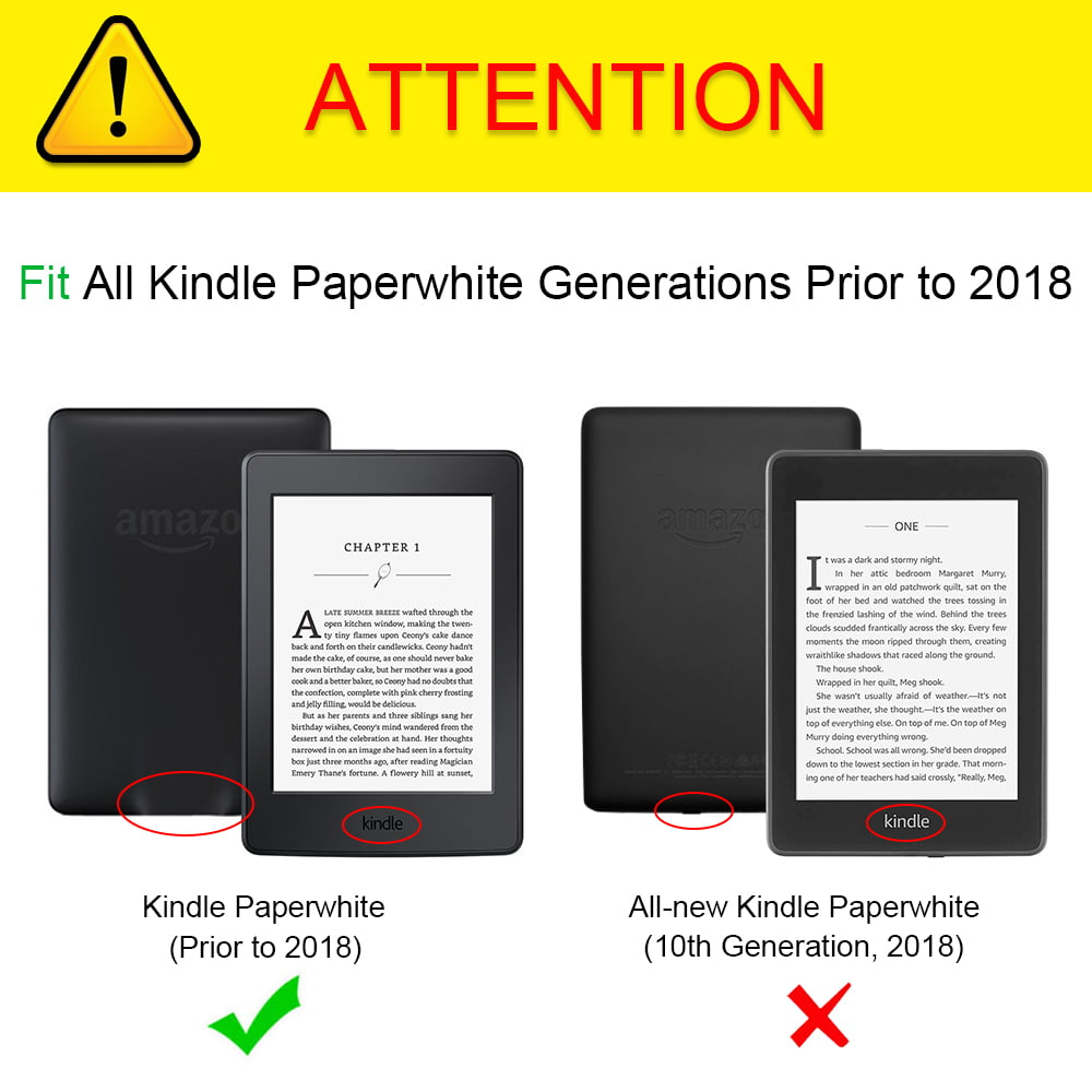 Fintie Folio Case for Amazon Kindle Paperwhite Generations Prior to 2018 -  Not for All-new Paperwhite 2018