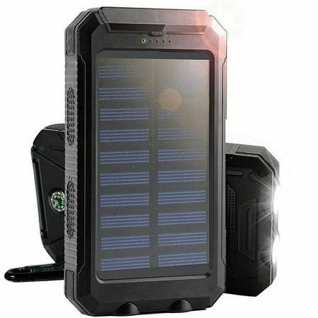 300000mAh Dual USB Portable Solar Battery r Solar Power Bank