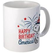 CafePress Snoopy Happy B-Day America Mug Unique Coffee Mug, Coffee Cup CafePress by