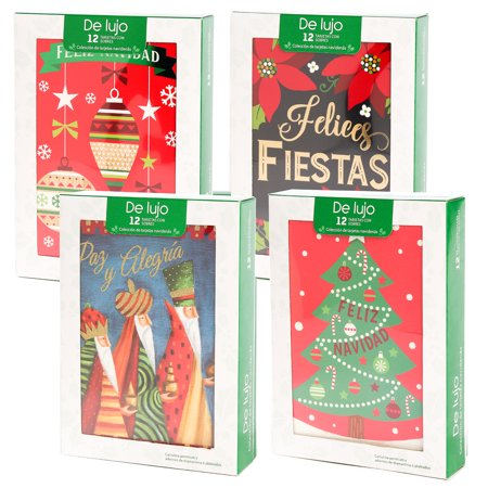 Papercraft (48 Pack) Merry Christmas Cards Deluxe Bulk Assortment Holiday Cards Pack with Foil & Glitter ()
