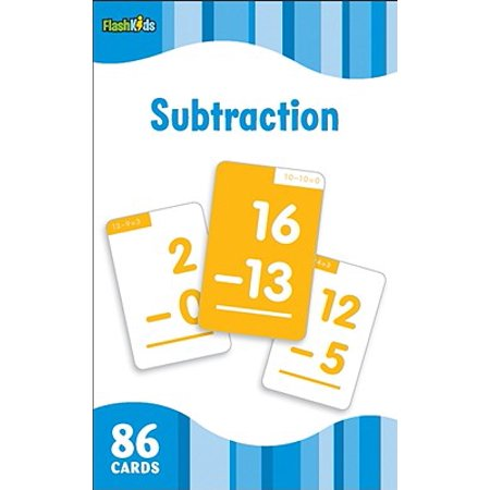 Subtraction Flash Cards (Math Subtraction Flash Cards)