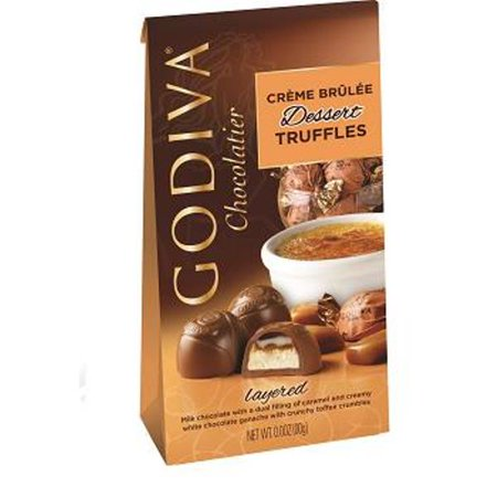 Godiva Chocolatier Wrapped Dessert Truffles, Creme Brulee