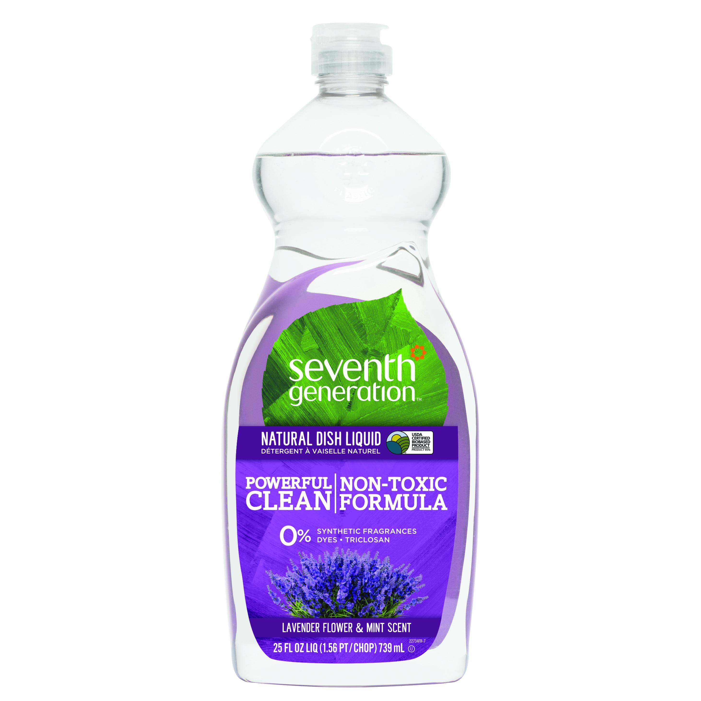 Seventh Generation Dish Liquid, Lavender Flower & Mint, 25 Fl Oz.