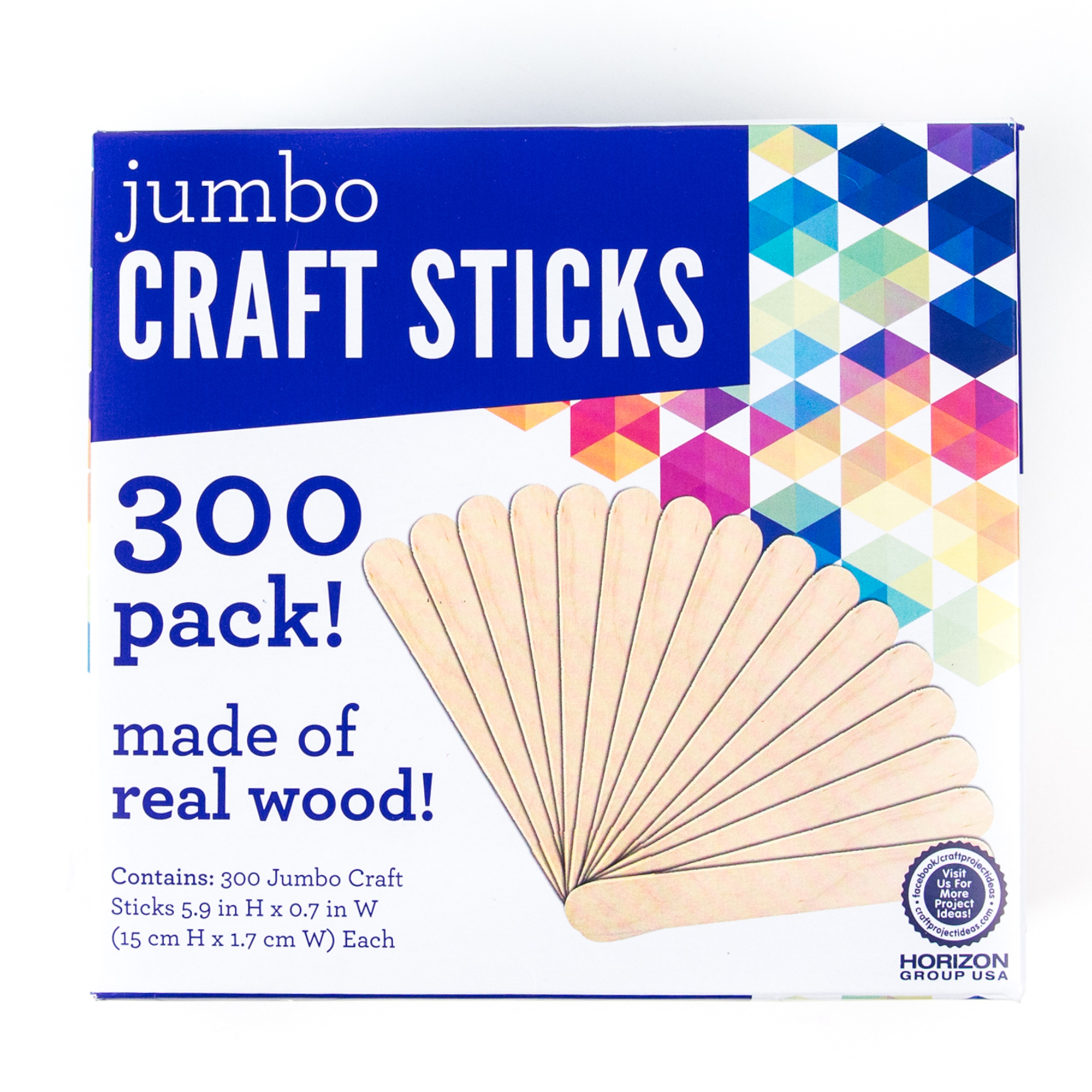 Jumbo Craft Sticks, 300pk by Horizon Group USA