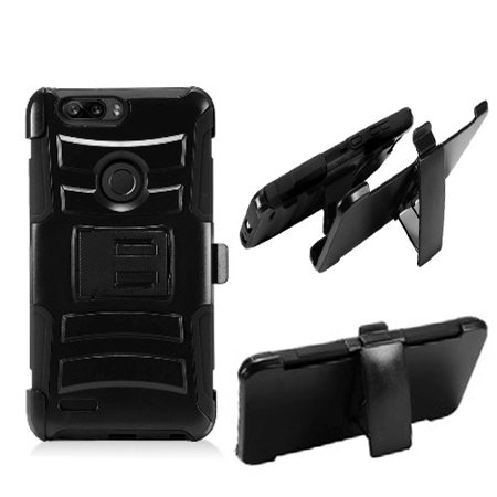 promo code 83c0b aa4d0 Phone Case For ZTE Blade Z Max ( MetroPCS ) / ZTE Sequoia z982 / ZTE  Zmax-Pro-2 4g Rugged Cover Kickstand Combo Holster Belt Clip (  Holster-Black Edge ...