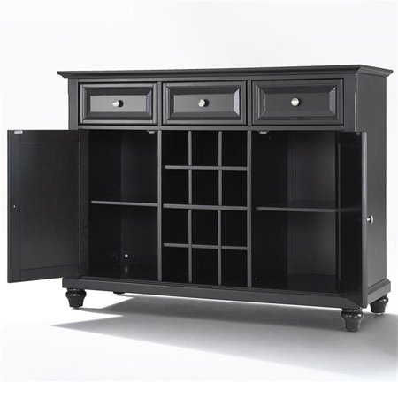 Crosley Furniture Cambridge Buffet Server and Sideboard Cabinet with Wine Storage Large Sideboard Server
