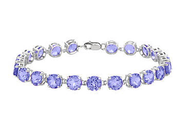 Sterling Silver Prong Set Round Tanzanite Bracelet 12 CT TGW December Birthstone Jewelry by Love Bright