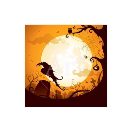 Halloween - Crow on the Graveyard Print Wall Art By ori-artiste](Lighting For Halloween Graveyards)