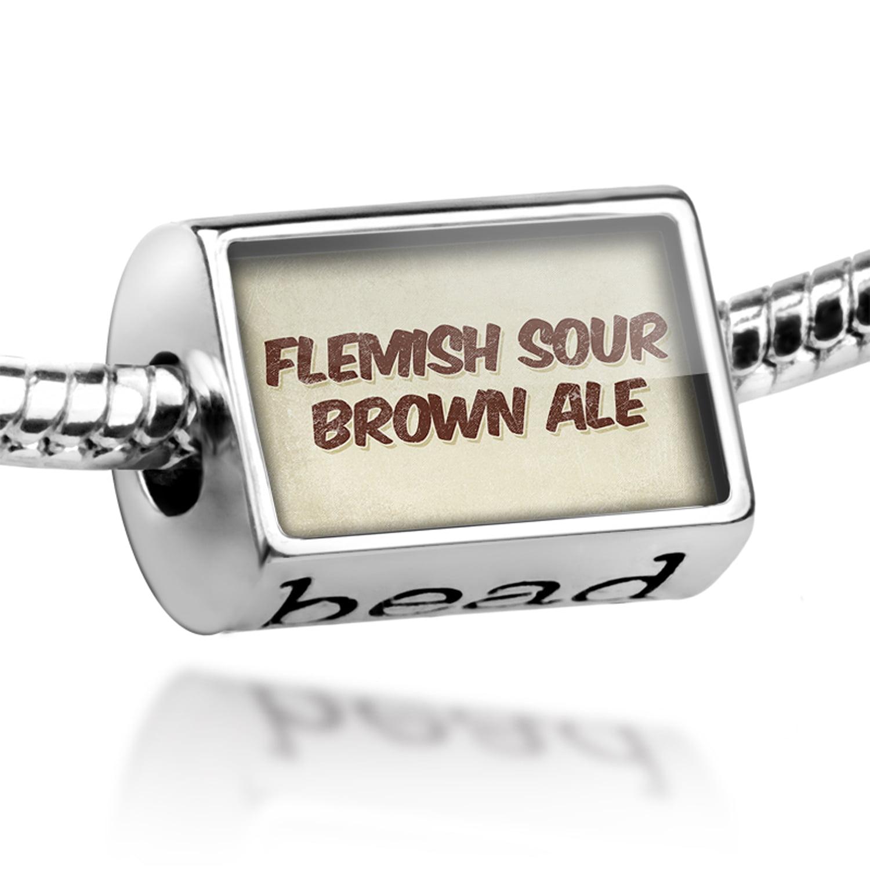 Bead Flemish sour brown ale Beer, Vintage style Charm Fits All European Bracelets