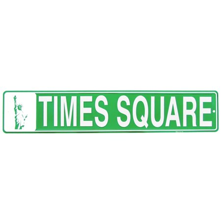 Times Square Metal Street Sign US Made NYC Souvenir Man Cave Bar Pub Wall Decor - Best Bars In Nyc For Halloween