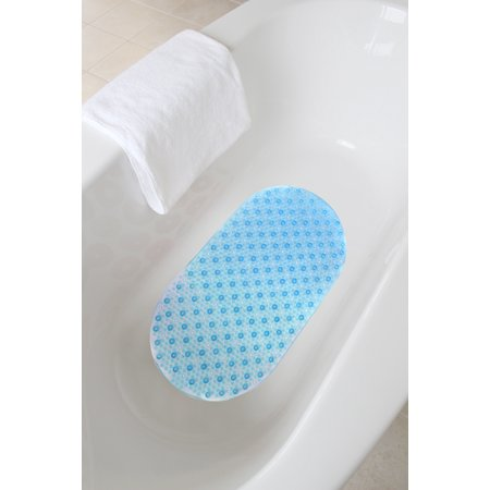 """Splash Home Bubbles Bathtub Mats Non-Slip Mildew Resistant Machine-Washable with 58 Strong Suction Cups, 15"""" x 27"""" Inch"""