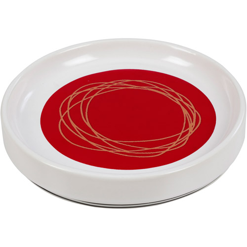 Creative Bath Dot Swirl Bright Soap Dish