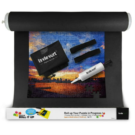 Lavievert Jigsaw Puzzle Roll Mat 1500-piece with Drawstring Bag & Hand Pump