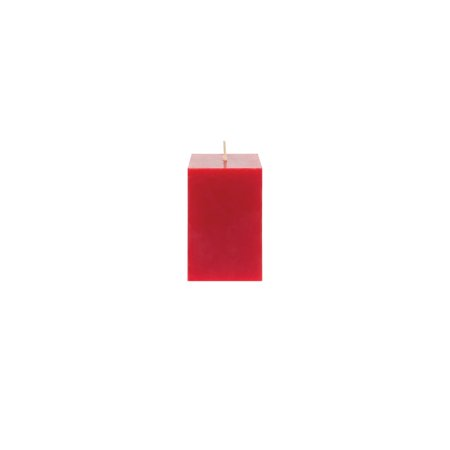 Mega Candles Unscented Red Square Pillar Candle | Hand Poured Premium Wax Candles 2