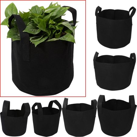 3 Gallon Feed (Minch PH Pot Black Vegetable Container Flower Plants Growing Bag Planting Aeration 3 Gallon)