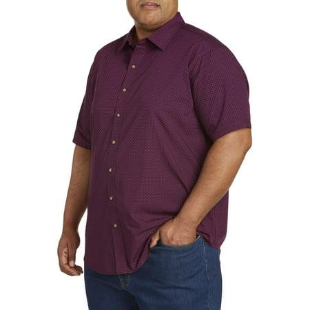Men's Big and Tall Short Sleeve Printed Shirt, up to (Mens Ridge Master)