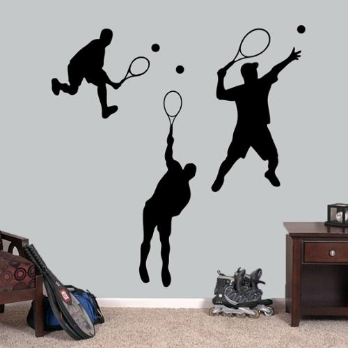Sweetums Tennis Guys Large Wall Decals Set