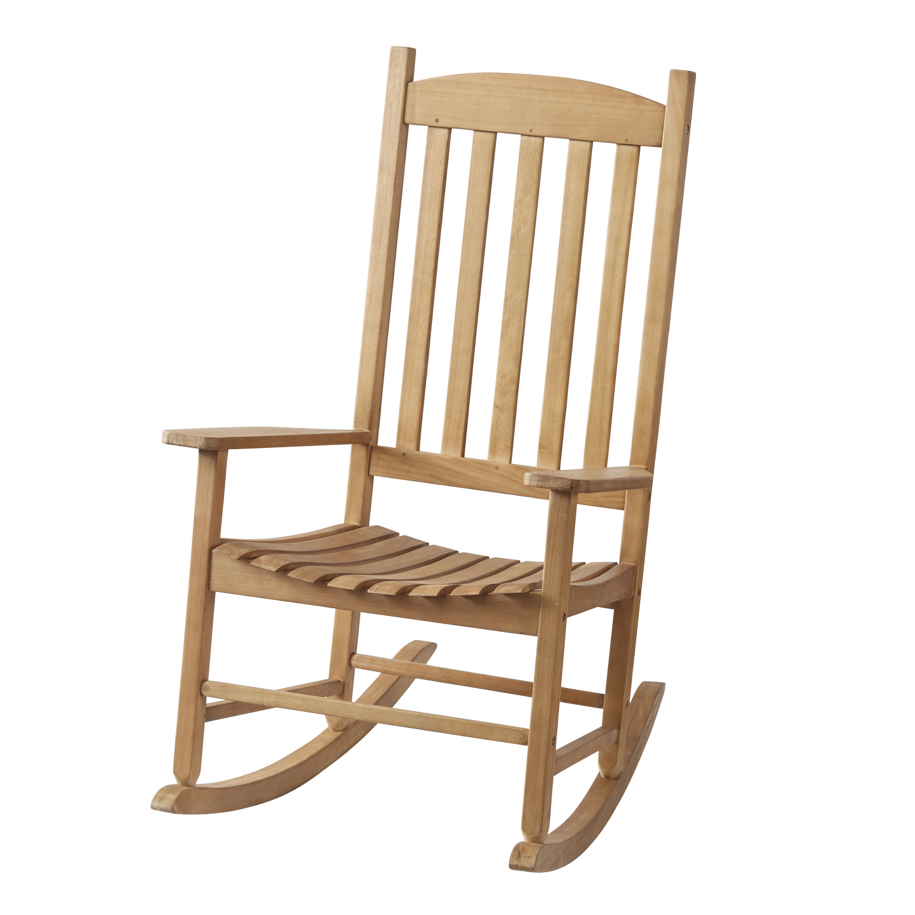Mainstays Outdoor Wood Slat Rocking Chair Walmart Com
