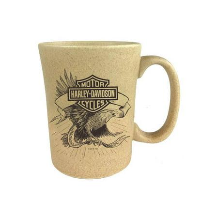 - Harley-Davidson Speckle B&S Eagle Ceramic Coffee Cup, Natural 15 oz. 3SMN4907, Harley Davidson