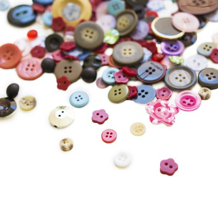 Scrambled Assortment Bag of Buttons (100 Pack) by Super Z Outlet (Craft Buttons)