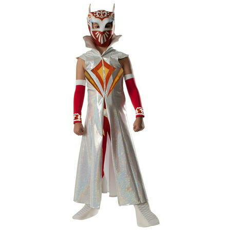 Deluxe Sin Cara Child Costume - Medium (Cara De Payaso Halloween)