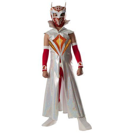 Deluxe Sin Cara Child Costume - Medium (Cremallera Cara Halloween)