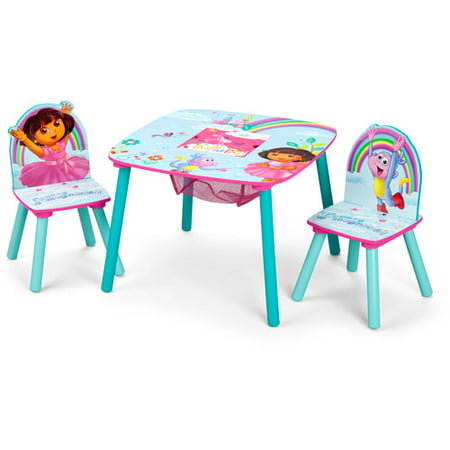Nickelodeon Dora the Explorer Storage Table and Chairs Set - Walmart.com