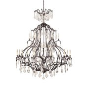 World Imports WI261889 21 Light Chandelier in Bronze with Clear Crystals