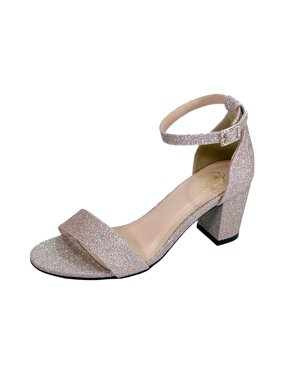 e56ab6f2e047 Product Image Floral Women s Adele Wide Width Satin Glitter Ankle Strap  Block Heel Party Sandals