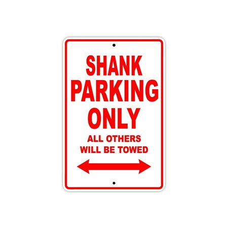HARDCORE CHOPPER SHANK Parking Only All Others Will Be Towed Motorcycle Bike Novelty Garage Aluminum Sign 18