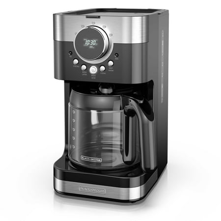 Black & Decker Select-A-Size Easy Dial Programmable Black & Stainless Steel Coffee