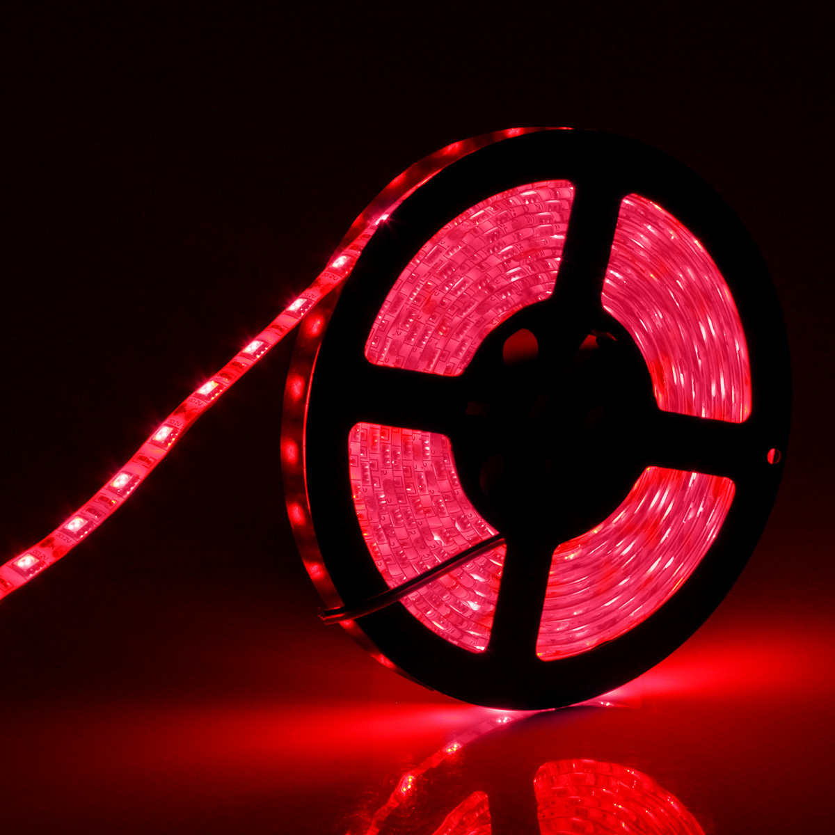 SUPERNIGHT 16.4FT 5M SMD 5050 Waterproof 300LEDs Red LED Flash Strip Light ,LED Flexible Ribbon Lighting Strip (Red Color)