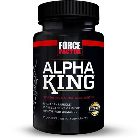 Force Factor Alpha King Free Testosterone Booster Featuring AlphaFen, 30