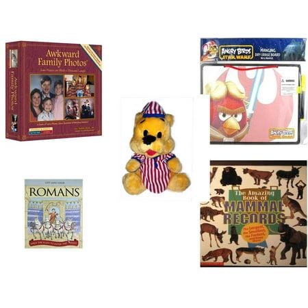 Bears In Star Wars (Children's Gift Bundle [5 Piece] -  Awkward Family Photos  - Angry Birds Star Wars Dry Erase Board w/ Marker  - Striped PJ's Nightime Bear  11