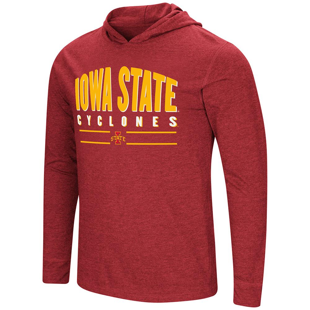 Mens Iowa State Cyclones Long Sleeve Tee Shirt Hoodie - S
