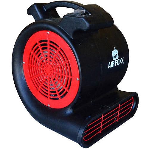 AirFoxx High Velocity .5 HP 2-Speed 3-Position 2800 CFM Air Mover/Carpet Dryer/Floor Dryer
