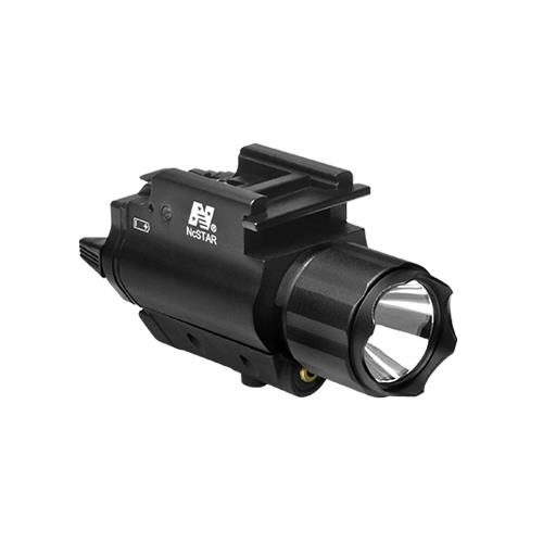 NcStar AQPFLS Tactical Red Laser Sight & 3w 120 Lumens Led Flashlight With Weaver Quick Release by