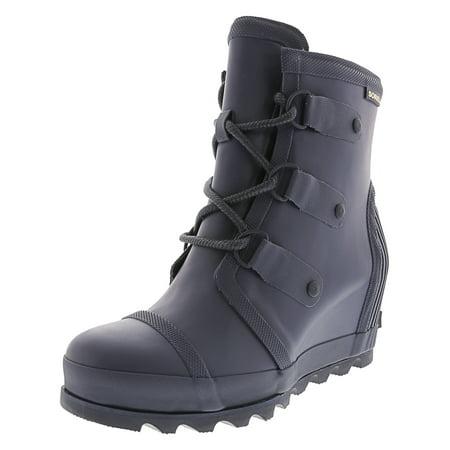 66661496d22 Sorel Women s Joan Rain Wedge Nori   Zest High-Top Rubber Boot - 6.5M ...
