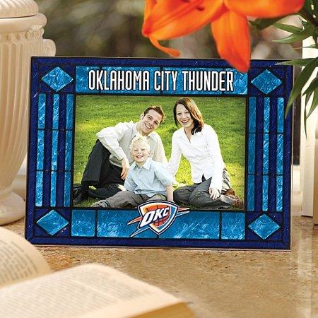 Memory Company Oklahoma City Thunder Art Glass Horizontal Frame - No Size](Halloween Fun In Oklahoma City)