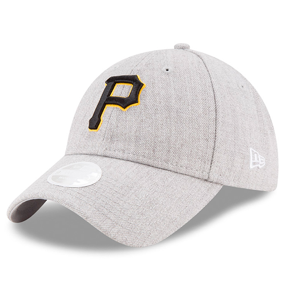 Pittsburgh Pirates New Era Women's Preferred Pick 9TWENTY Adjustable Hat - Heathered Gray - OSFA